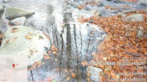 Masurari ale temperaturii apei si malului in paraul cu curgere spre Piatra in apropierea șoselei DN 19.