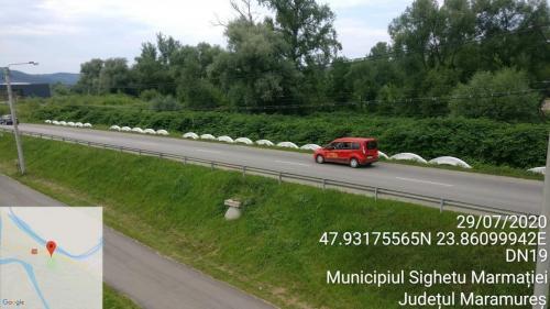 Punct de masurare a nivelului sonor la DN 19 la Cimitirul Saracilor din Sighetu-Marmatiei