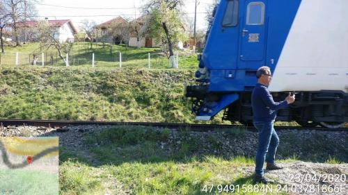23 APRILIE 2020-Lunca la Tisa-Evaluarea nivelului de zgomot generat la trecerea trenurilor de pe CF Sighetu Marmatiei-Valea Viseului.