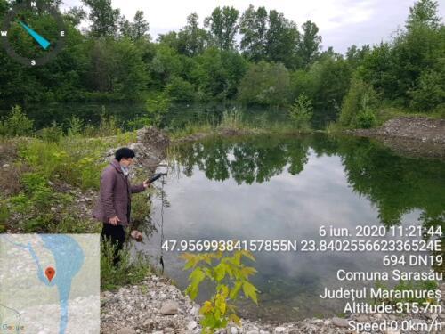 Măsurarea unor indicatori ai apei din zona umedă Sarasău