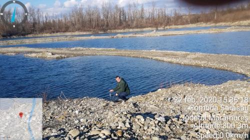 Observații in teren, a turbidităţii si temperturii apei lacurilor de acumulare din Sarasău