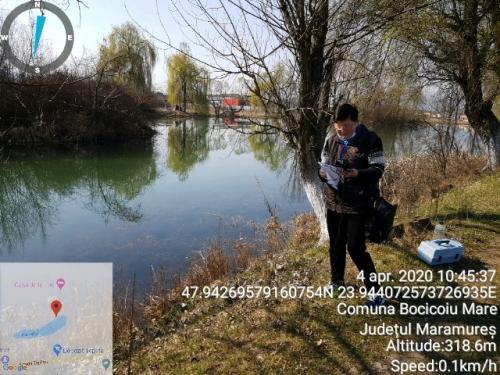 Înregistrarea măsurătorilor pentru apa din lacul Teplite