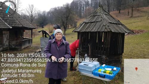 Fig.1. Măsurători ale calității apei freatice din zona pădurii Ronișoara (fântâna de lângă stâna de la Rona de Sus)
