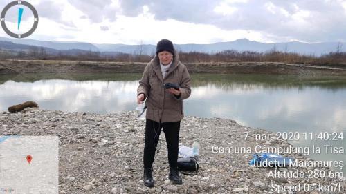 Măsurarea pH-ului apei din lacul de balastiera Câmpulung la Tisa