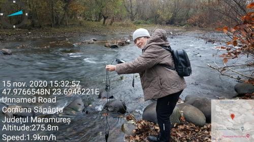 Fig.1.Masurători ale oxigenului din apa râului Săpânța