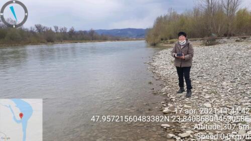 Fig.2. Măsurarea turbidității apei râului Tisa
