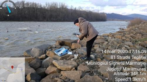 Măsurători pe raul Tisa la Sighetu Marmației