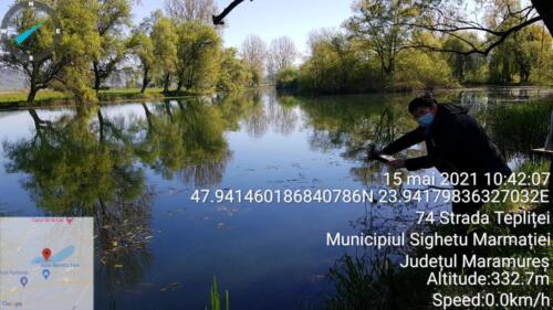Fig2_Masuratori ale indicatorilor apei pe lacul Teplite_mai 2021