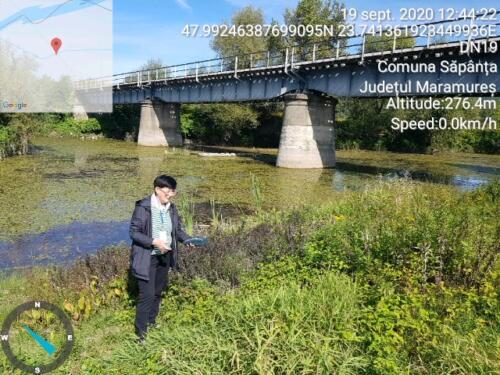 Măsurarea turbidității apei lacului Hedeș din Câmpulung la Tisa