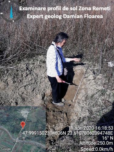 Examinare profil de sol din zona Remeți