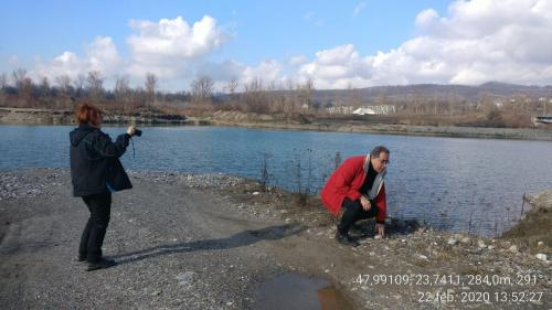 Măsurători de factori abiotici de mediu la Sărăsău, zona de balastiere — expert Monica Marian & expert Radu Todoran